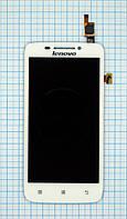 Модуль (дисплей + сенсор) Lenovo S650 white original