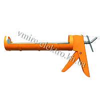 Пистолет для силикона, герметика полузакрытый Grad 225 мм