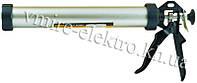 Пистолет для силикона, герметика закрытый (алюм. туба) Sigma 375 мм 610 мл