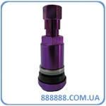 Вентиль легковой разборной фиолетовый плоский низ (колпачок со смайликом мишелинчик)