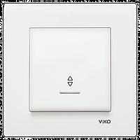 Переключатель перекрестный одноклавишный с подсветкой белый VIKO KARRE 90960063