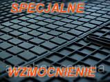 Гумові килимки AUDI A4 S4 2000 - сірі з лого, фото 3