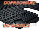 Гумові килимки AUDI A6 S6 2011 - сірі з лого, фото 7