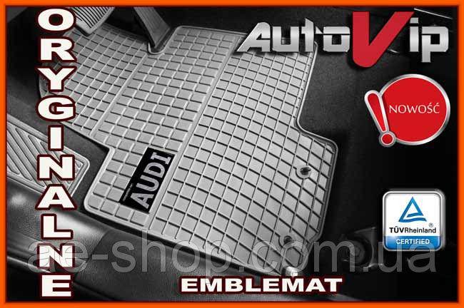 Резиновые коврики AUDI Q7 2006- серые с лого