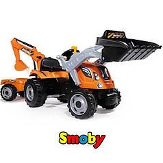 Трактор с прицепом Max Smoby 710110 и двумя ковшами