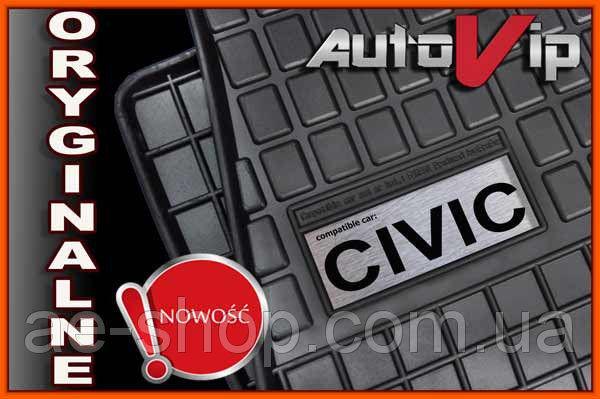 Резиновые коврики HONDA CIVIC HB 2006-  с лого