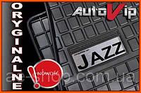 Резиновые коврики HONDA JAZZ 2008-  с лого