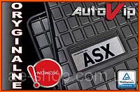 Резиновые коврики MITSUBISHI ASX 2010-  с логотипом