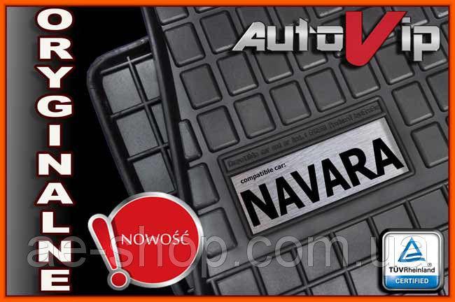 Резиновые коврики NISSAN NAVARA II 2010-  с логотипом
