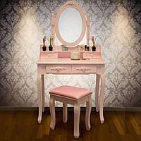 Туалетный столик Мирка розового цвета