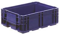 Пластиковый ящик 400x300x147, дно перфорированное