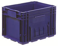 Пластиковый ящик 400x300x280, дно перфорированное