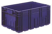 Пластиковый ящик 600x400x280, дно перфорированное