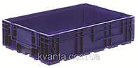 Пластиковый ящик 600x400x147, дно перфорированное