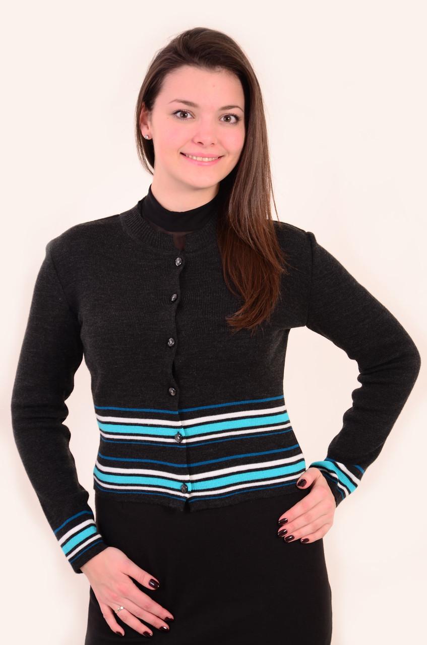 Жакет женский,(Жк 240043),молодежная мода , шерсть , вязка, комплект