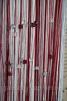 Шторы нити радуга со стеклярусом  (147)