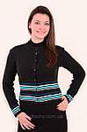 Блуза женская , блуза джемпер с горлышком, (Жк 241043),молодежная мода , шерсть , вязка., фото 2