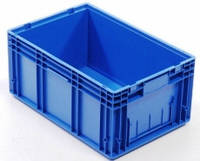 Пластиковый ящик 600x400x280, гладкое дно