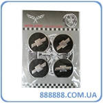 Эмблемы металлические на колпаки Chevrolet (4 шт в комплекте) цена за комплект