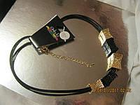 БИЖУТЕРИЯ колье бусы ожерелья металл цвет-золото и серебро новые стильные модные украшения