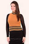 Блуза женская , блуза джемпер с горлышком, (Жк 241037 ), молодежная мода , шерсть , вязка., фото 3