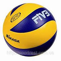 Мяч волейбольный Клееный PU MIKASA MVA-200 (PU, №5, 5 сл., клееный) OFFICIAL