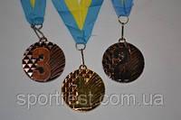 Медаль наградная с лентой, d - 50мм. 1,2,3 - место