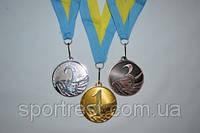 Медаль наградная с лентой, d - 50мм.1,2,3 - место