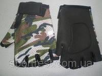 Перчатки для велосипедистов. Материал: неопрен. Цвет: камуфляж