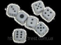 Кубик игровой белый (100шт.в уп-ке)