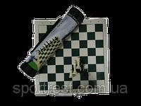 Шахматы в тубе,большие, доска - винил 51*51см , фигуры пластик