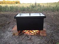 Коптильня двух-ярусная для рыбы, мяса, птицы, сала и фруктов 520х300х280