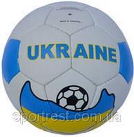 Мяч футбол кожзам с символикой Украины