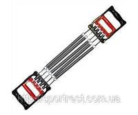 Эспандер плечевой 2 в 1 , 5 пружин ( L-26 см ) пластиковые ручки + эспандер кистевой