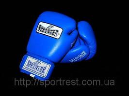 """Перчатки бокс SPRINTER RING-STAR. Цвет: синий и красный. размер-вес 8,10,12"""". из натуральной кожи."""