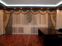 Ламбрекен для зала гостинной