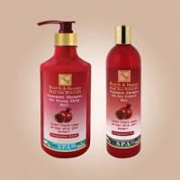 Укрепляющий шампунь с гранатом для здоров'я и блеска волос 780 мл, израильская косметика Health&beauty