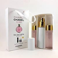 Подарочный парфюмерный набор с феромонами Chanel Chance Eau Tendre (Шанель Шанс эу Тендр) 3x15 мл