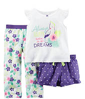 Детская пижама для девочки Carters  на 24 мес