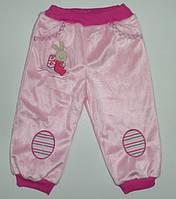 Штаны  для девочки рост внутри травка 68,74,80,86 см. хлопок 100%(начес)