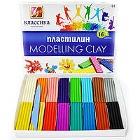 Пластилін Промінь 16 кольорів Класика