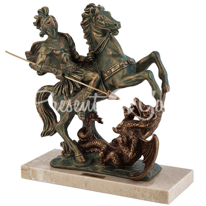 Скульптура Anglada «Святой Георгий Победоносец» 24х10х26 см.