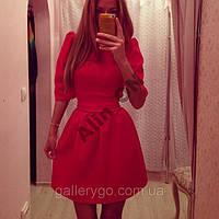 Женское платье колокольчик рукав фонарик 4 цвета  в наличии