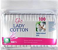 Ватные палочки Леди котон полиэтилен 100 шт