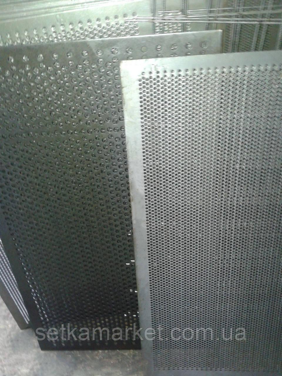 Решето ДДМ, комірка 5 мм, товщина 2 мм, лист 500 х 1574 мм.