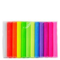 Глина полимерная Leader 12 цветов флуоресцентная