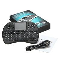 Беспроводная клавиатура с тачпадом для смарт ТВ приставки, компьютера, ноутбука