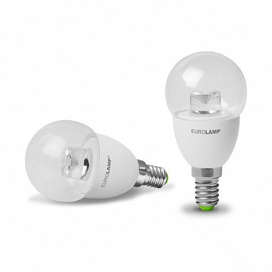 EUROLAMP LED Лампа ЕКО G45 5W E14 3000K(прозрачная)
