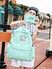 Школьный рюкзак с кошелечком в бабочках, фото 4
