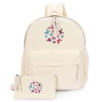 Женский рюкзак с бабочками и пеналом